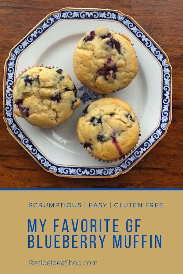 What's Your Favorite Blueberry Muffin recipe? This is mine. #favoriteblueberrymuffin #favoritemuffin #muffinrecipes #blueberrymuffin #glutenfree #food #recipes #comfortfood #recipeideashop