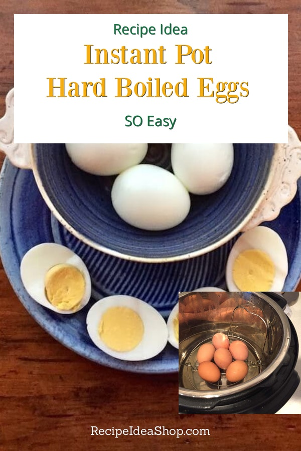 Instant Pot Hard Boiled Eggs are ready to eat in 15-17 minutes. Perfect and they peel easily. #instantpothardboiledeggs #instantpot #eggs #recipes #glutenfree #recipeideashop