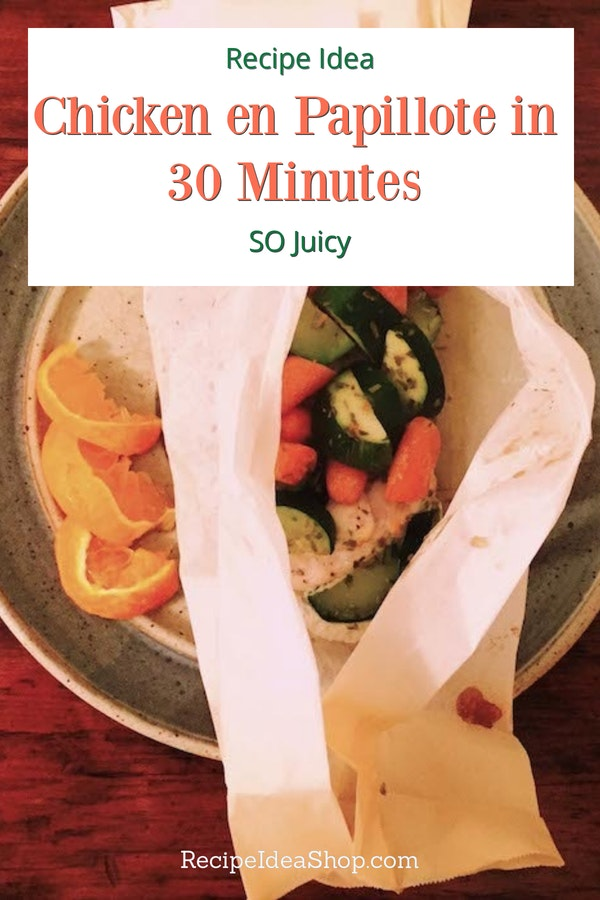Chicken en Papillote? In 30 minutes? And it's Phase 1 South Beach? Yes please. #chicken-en-papillote #chickenrecipes #30minuterecipes #SouthBeach #recipes #recipeideashop