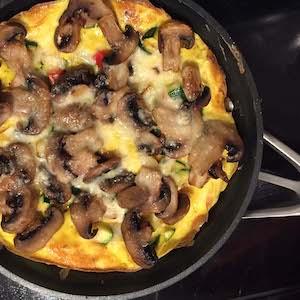 Roasted Mushroom Frittata