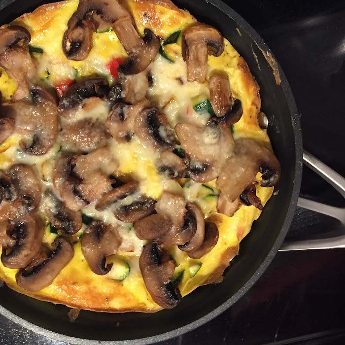 Doesn't this Roasted Mushroom Frittata look heavenly? Mmmmmm.