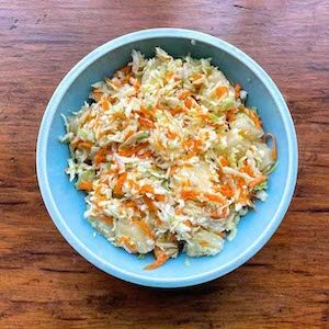 Cabbage Carrots Pineapple Slaw