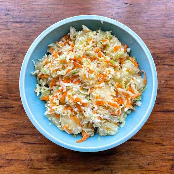 Cabbage Carrot Pineapple Slaw
