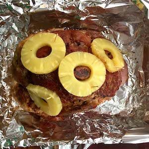 Baked Ham. Pineapple adds flavor.