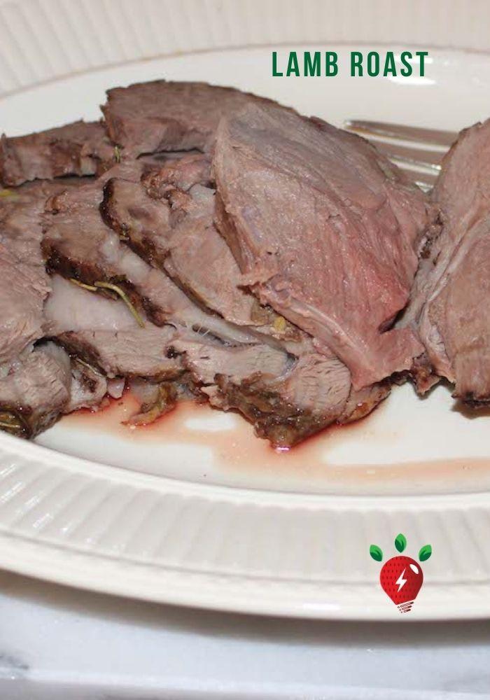 Lamb Roast. So easy in a slow oven. #LambRoast #LegOfLamb #EasterFood #Recipes #HealthyTwist #RecipeIdeaShop