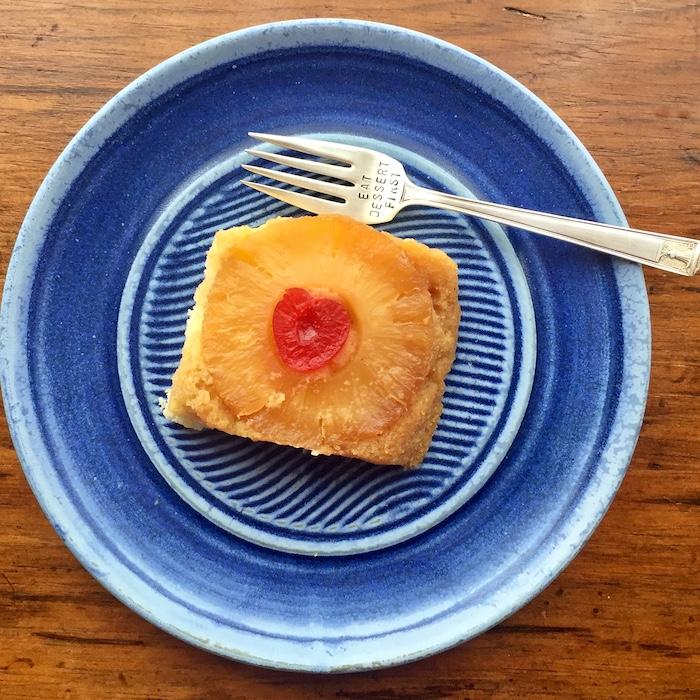"Gluten Free Pineapple Upside Down Cake is good anytime, but it's especially good in May, when it's ""Eat Dessert First Month."""
