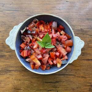 Tomato Red Pepper Salad
