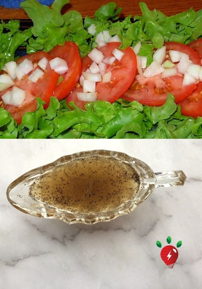 Vinegar Sugar Dressing #VinegarDressing #BitterLettuce #VinegarSugarDressing #HealthyTwist #GlutenFree #DairyFree #SaladDressing #Recipes #SaladRecipes #RecipeIdeaShop