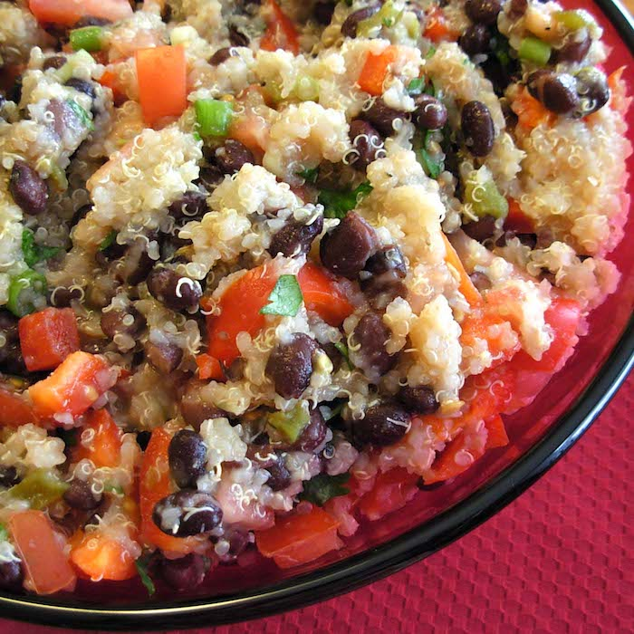 Quinoa and Black Bean Salad is full of protein and super tasty.
