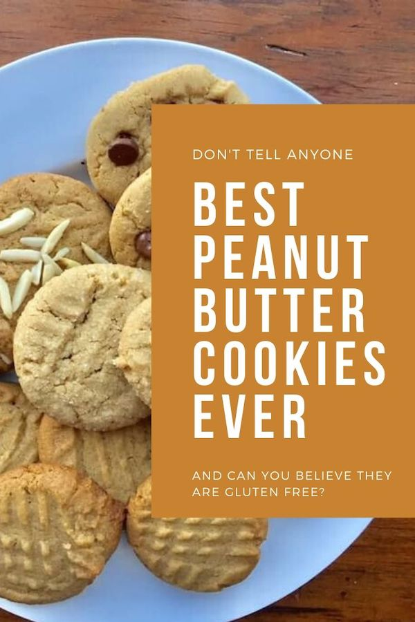 If you tell them they are Gluten Free Peanut Butter Cookies, you can eat them all yourself. It's so worth that bold truth.  #glutenfreepeantubuttercookies #peanutbuttercookies #bestcookies #cookies #PBCookies #recipes #glutenfree #dessert #comfortfood #recipeideashop