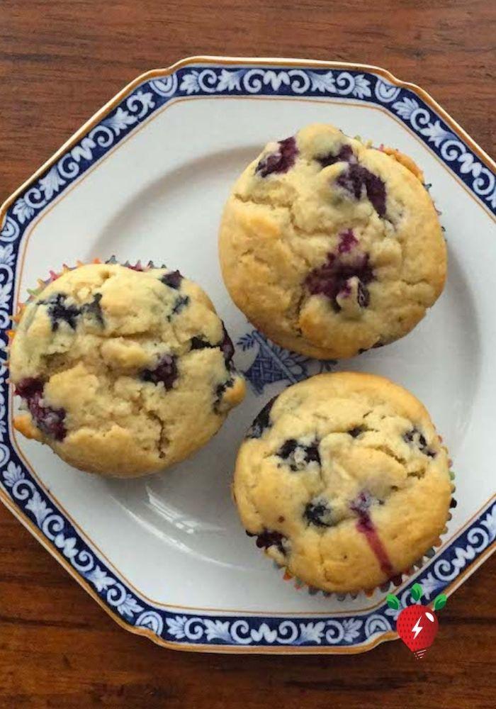 My favorite gluten-free blueberry muffin. 30 min. #FavoriteBlueberryMuffin #MuffinRecipe #HealthyTwist #GlutenFree #Recipes #RecipeIdeaShop