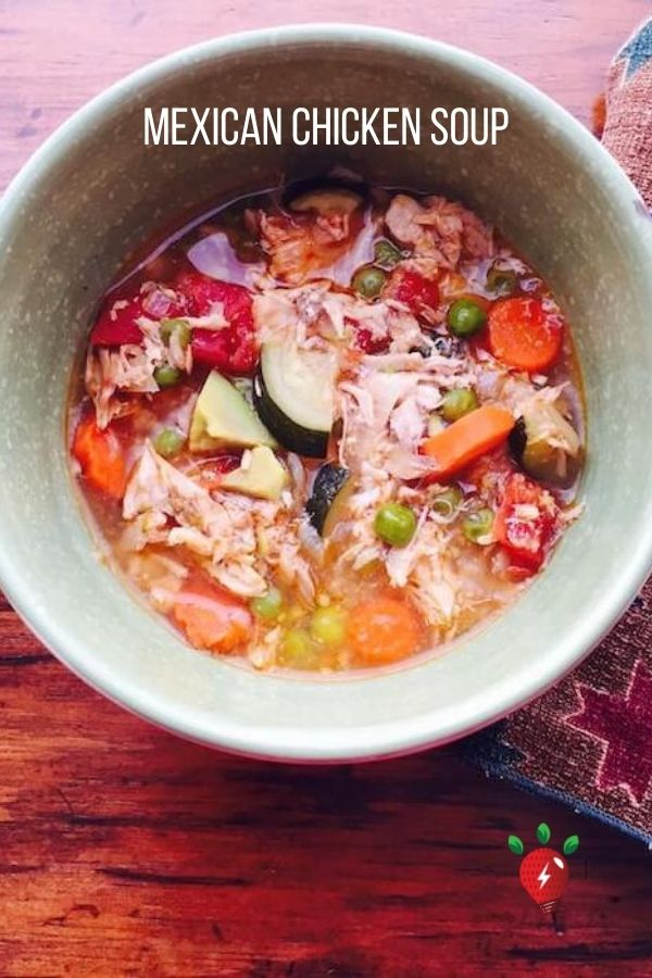 Mexican Chicken Soup is an amazingly delicious way to fight a cold. #MexicanChickenSoup #ChickenSoup #GlutenFRee #Recipes #HealthyTwist #RecipeIdeaShop