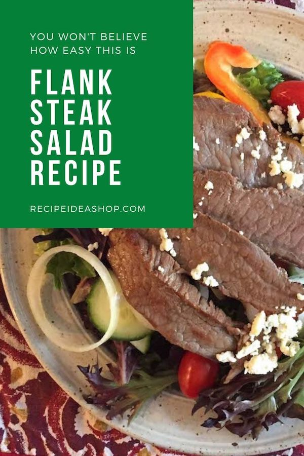 Flank Steak Salad takes 10 minutes. So satisfying. #flanksteaksalad #flanksteak #beef #steaksalad #recipes #glutenfree #saladrecipes #food #comfortfood #health #recipeideashop