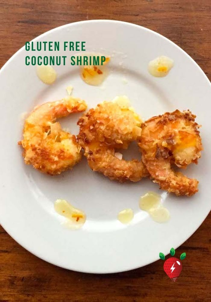 Gluten Free Coconut Shrimp. Super easy. #GlutenFreeCoconutShrimp #CoconutShrimp #Recipes #GlutenFree #HealthyTwist #CookAtHome #RecipeIdeaShop