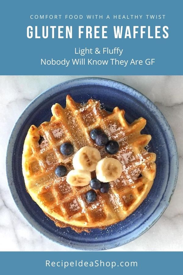 You can make these ahead and freeze them. Pop them in the toaster to reheat. Amazing Gluten Free Waffles. #glutenfreewaffles #toasterwaffles #cookathome #comfortfood #glutenfree #health #recipes #recipeideashop