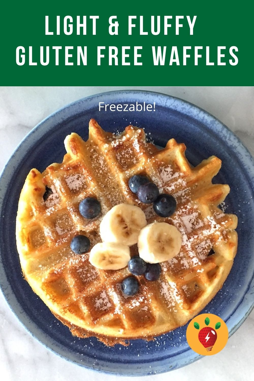 Light and fluffy gluten free waffles. These waffles are gluten free, FREEZABLE, and so delicious. #GlutenFreeWaffles #FreezableMeals #KidsFoods #GlutenFree #recipes #breakfast #ComfortFood #RecipeIdeaShop