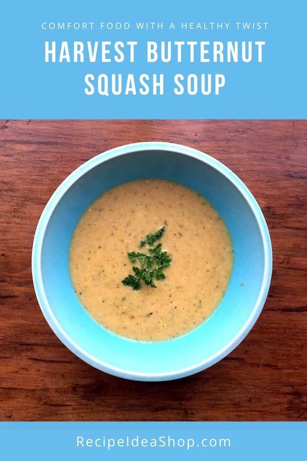 Harvest Squash Soup is definitely my FAVORITE Butternut Squash Soup. #harvestsquashsoup #harvestbutternutsquashsoup #butternutsquashsoup #soup #recipes #gutenfree #dairyfree #comfortfood #recipeideashop