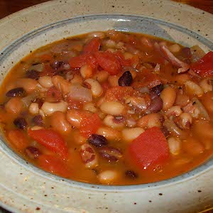 Three Bean Soup with Ham. Yum.