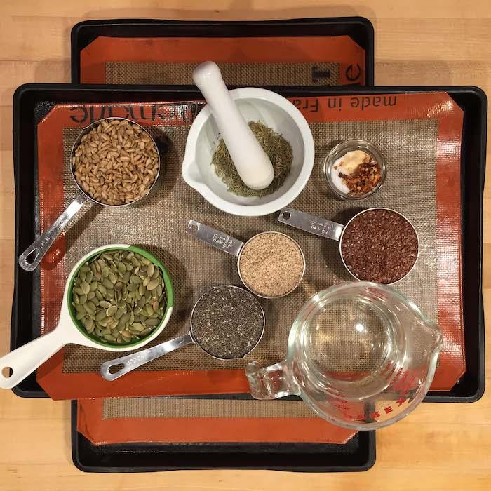 5 Seed Crackers Ingredients