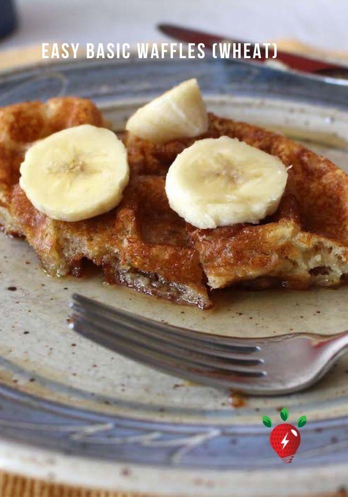 Basic Waffles (wheat) #BasicWaffles #WheatWaffles #Waffles #Recipes #EasyRecipes #HealthyTwist #RecipeIdeaShop