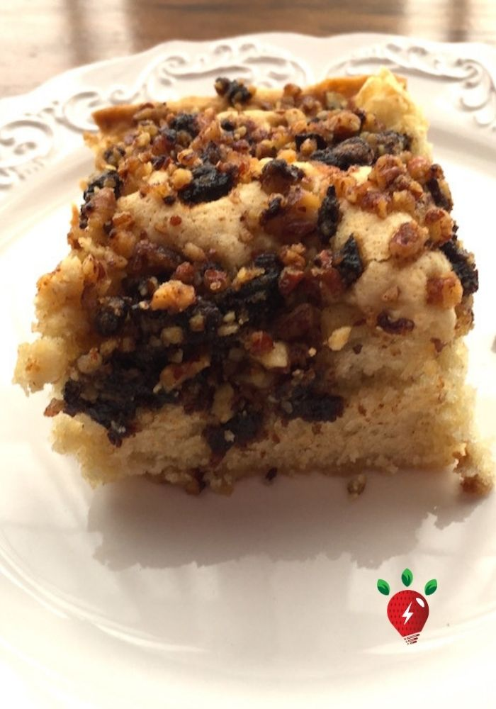Oh yum! Cherry Almond Coffee Cake & it's gluten free! #CherryAlmondCoffeeCake #CoffeeCake #Cake #Recipes #HealthyTwist #RecipeIdeaShop