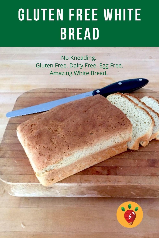Gluten Free Dairy Free White Bread that actually tastes like bread. Can be egg free. Single rise. #GlutenFreeDairyFreeWhiteBread #HomemadeGlutenFreeBread #BreadRecipe #GF #DF #EF #recipes #GlutenFree #RecipeIdeaShop