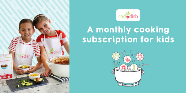 Image showing children cooking. Raddish Cooking Subscription Ad