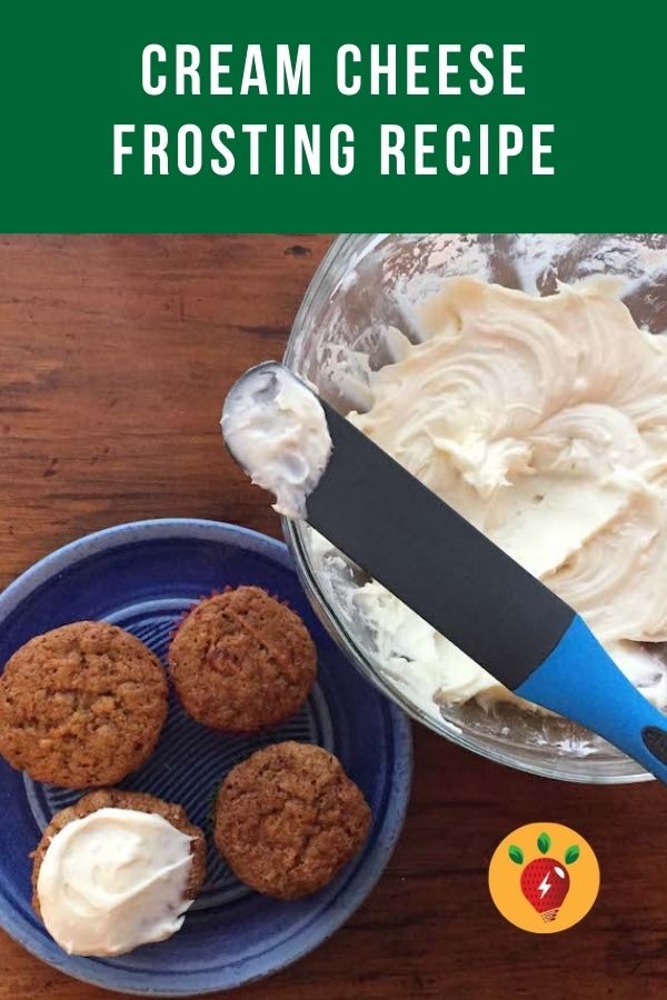 Cream Cheese Frosting is tangy and sweet. 4 ingredients. #CreamCheeseFrosting #HomemadeFrosting #Frosting #DessertRecipes #GlutenFree #Recipes #RecipeIdeaShop