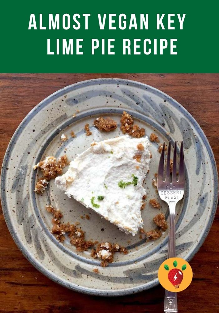 Key Lime Pie. Gluten Free & Almost Vegan. So scrumptious! #KeyLimePie #AlmostVegan #GlutenFree #desserts #Pie #recipes #HealthyTwist #RecipeIdeaShop
