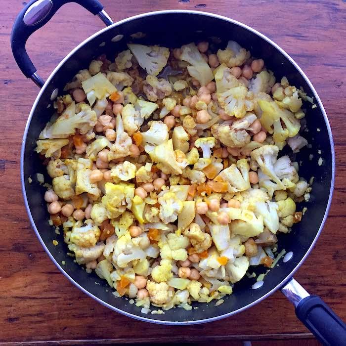 Cauliflower Chickpea Tagine