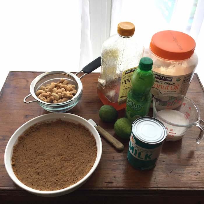 Key Lime Pie ingredients.