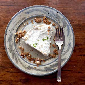 Almost Vegan Key Lime Pie