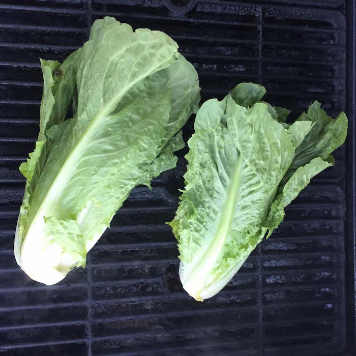 Step 3: Place the romaine on a medium-hot grill. Close the cover.